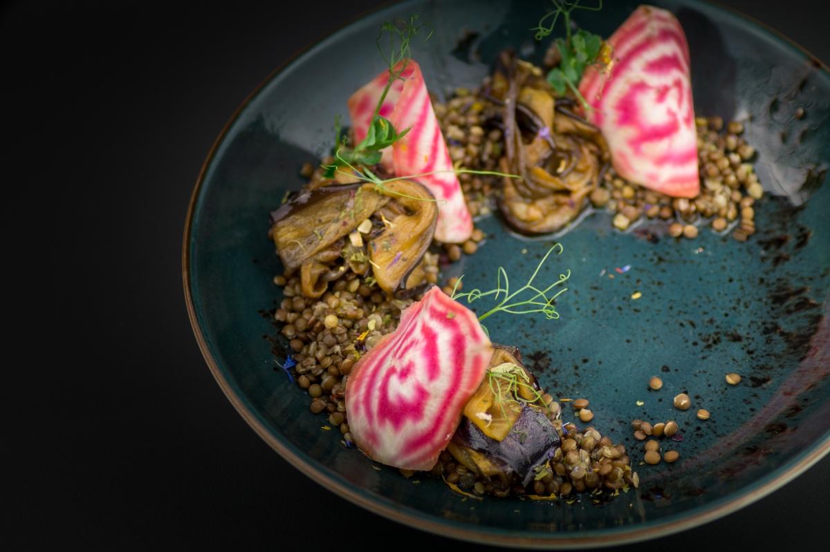 Ensalada de lenteja caviar
